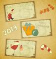 set of Retro Christmas cards vector image