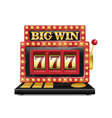 slot machine for casino lucky seven in gambling vector image