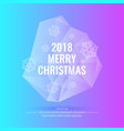 2018 merry christmas and happy new year abstract vector image vector image