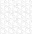 3D white slim tetrapods vector image vector image