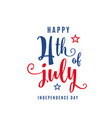 4th july celebration holiday banner usa vector image vector image