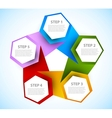 Abstract diagram with hexagons vector | Price: 1 Credit (USD $1)