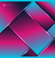abstract pink and blue neon color geometric vector image vector image
