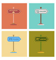 assembly flat icons park gallery restaurant vector image vector image