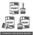 bank with paint and brush vector image vector image