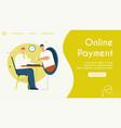 banner online payment vector image vector image