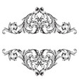 baroque vintage elements vector image vector image