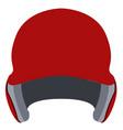 baseball helmet icon vector image vector image