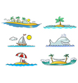 beach design elements vector image