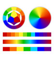 bright rainbow gradient vector image