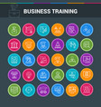 business circle icon set vector image