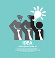 Businessman Holding A Light Bulb Idea Concept vector image vector image