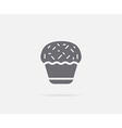 Cake Cupcake Cream Element or Icon Ready for Print vector image