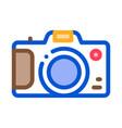 camera icon outline vector image