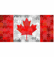 canada flag made of puzzle background vector image