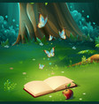 cartoon background forest vector image vector image