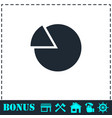 chart icon flat vector image vector image