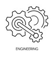 cogwheel linear symbol engineering isolated vector image