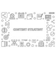 content strategy concept outline frame vector image