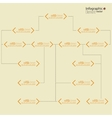 Corporate organization chart vector image