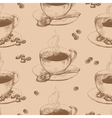 cup hot coffee seamless vector image