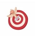 Darts icon cartoon style vector image