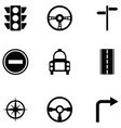 driving school icon set vector image