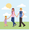 family couple card vector image vector image