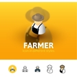 Farmer icon in different style vector image vector image