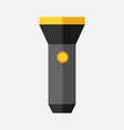 Flashlight isolated flat style vector image vector image