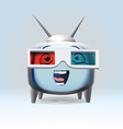 Funny cartoon retro TV character vector image vector image