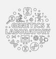 genetics laboratory round outline vector image