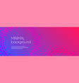 gradient colorful long banner abstract minimal vector image vector image