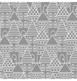 Gray and white line city seamless pattern vector image vector image