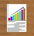 growing statistics chart vector image vector image