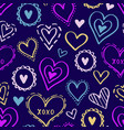 hearts pattern love new-03 vector image vector image