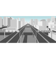 highways and roads in a modern city vector image vector image