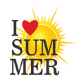 i love summer icon color vector image vector image