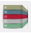 Infographics design variation 5 vector image vector image