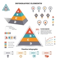 Infographics elements set Pyramid chart graphics vector image