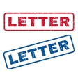Letter rubber stamps