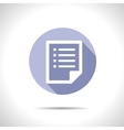 list document icon Eps10 vector image