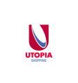 logo for utopia shopping mall vector image vector image