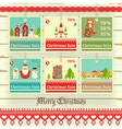 Merry Christmas and New Year Sale Tags vector image