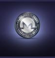 monero metal coin vector image vector image