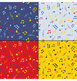 Musical seamless background set vector image vector image