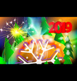 new year clock and bengal fire sparkler candle vector image
