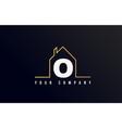 o house alphabet letter icon logo design house vector image vector image