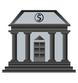 Old bank building vector image vector image