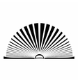 Opened book with pages fluttering vector image vector image